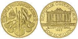 500 Shilling Republik Österreich (1955 - ) Gold