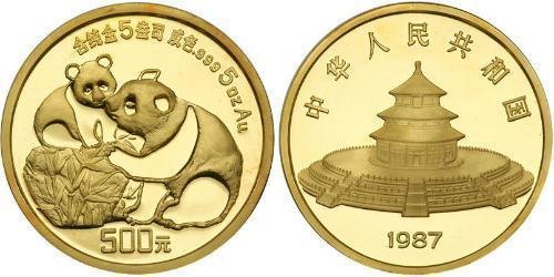 500 Yuan Volksrepublik China Gold
