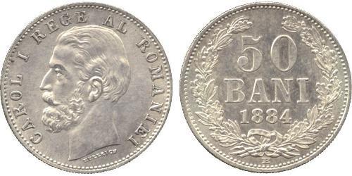50 Бан Королевство Румыния (1881-1947) Серебро Кароль I (1839 - 1914)