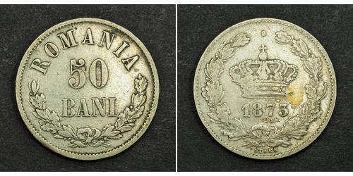 50 Бан Королівство Румунія (1881-1947) Срібло Carol I of Romania (1839 - 1914)