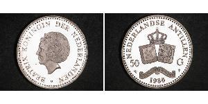 50 Гульден Нидерландские Антильские острова (1954 – 2010) Серебро Беатрикс