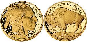 50 Доллар США (1776 - ) Золото