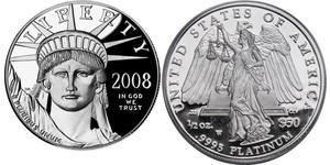 50 Доллар США (1776 - ) Платина
