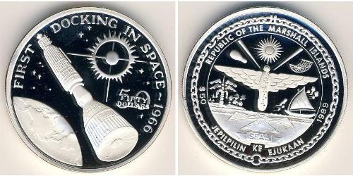 50 Доллар Маршалловы Острова Серебро