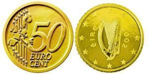 50 Евроцент Ирландия (1922 - ) Алюминий/Цинк/Олово/Медь