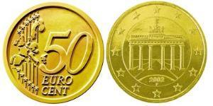 50 Евроцент Федеративная Республика Германия (1990 - ) Алюминий/Цинк/Олово/Медь