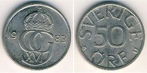 50 Ере Швеція Нікель/Мідь