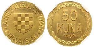 50 Куна Хорватия Золото
