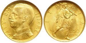 50 Лира Kingdom of Italy (1861-1946) Золото Виктор Эммануил III (1869 - 1947)