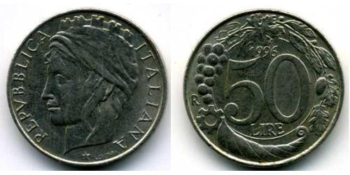 50 Лира Италия Никель/Медь