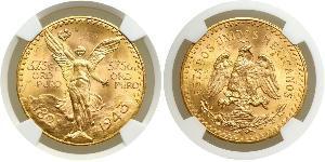 50 Песо Мексиканські Сполучені Штати (1867 - ) Золото
