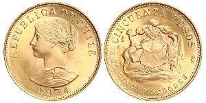 50 Песо Чили Золото