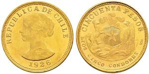 50 Песо Чилі Золото