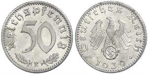 50 Пфенниг Германия Алюминий