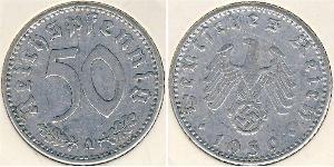 50 Рейхспфенниг Третий рейх (1933-1945) Алюминий