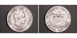 50 Сентаво Республика Kолумбия Серебро
