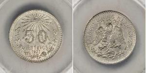 50 Сентаво Соединённые Штаты Мексики (1867 - ) Серебро