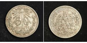 50 Сентаво Мексиканські Сполучені Штати (1867 - ) Срібло