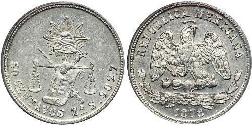 50 Сентаво Мексика Срібло