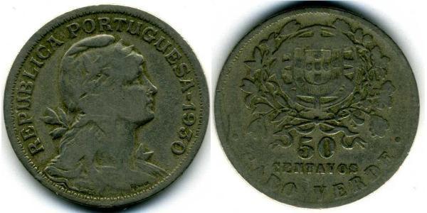 50 Сентаво Португалія / Кабо Верде (1456 - 1975) Цинк/Мідь