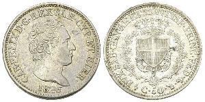 50 Сентесимо Италия Серебро