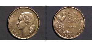 50 Франк Четвёртая французская республика (1946-1958) Алюминий/Бронза