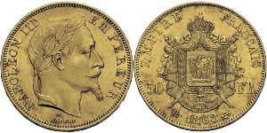 50 Франк Second French Empire (1852-1870) Золото Наполеон ІІІ Бонапарт (1808-1873)