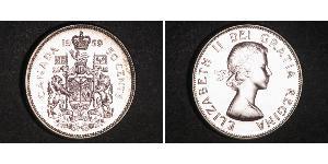 50 Цент Канада Серебро Елизавета II (1926-)
