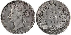50 Цент Канада Серебро Виктория (1819 - 1901)