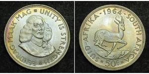 50 Цент Южно-Африканская Республика Серебро