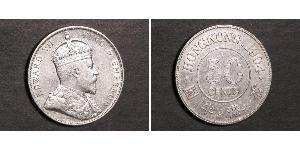 50 Цент Гонконг Срібло Едвард VII (1841-1910)