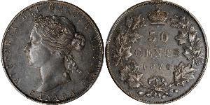 50 Цент Канада Срібло Вікторія (1819 - 1901)
