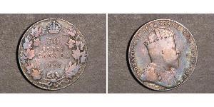 50 Цент Канада Срібло Едвард VII (1841-1910)