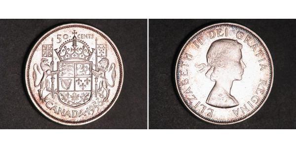 50 Цент Канада Срібло Єлизавета II (1926-)