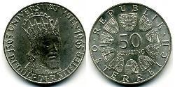 50 Шиллинг Австрийская Республика(1955 - ) Серебро