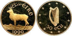 50 Экю Ирландия (1922 - ) Золото