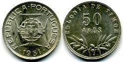 50 Avo Portugal / Osttimor (1702 - 1975) Silber