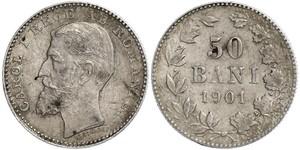 50 Ban 羅馬尼亞王國 (1881 - 1947) 銀 卡罗尔一世