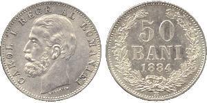 50 Ban Königreich Rumänien (1881-1947) Silber Karl I. (Rumänien) (1839 - 1914)