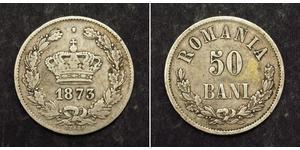 50 Ban Kingdom of Romania (1881-1947) Silver Carol I of Romania (1839 - 1914)