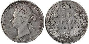50 Cent 加拿大 銀 维多利亚 (英国君主)
