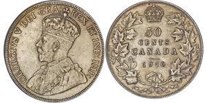 50 Cent 加拿大 銀 乔治五世  (1865-1936)