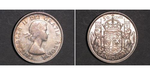 50 Cent 加拿大 銀 伊丽莎白二世 (1926-)