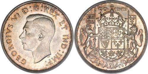 50 Cent 加拿大 銀 乔治六世 (1895-1952)