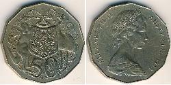 50 Cent 澳大利亚 銅/镍 伊丽莎白二世 (1926-)