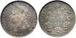 50 Cent Canada Argent Victoria (1819 - 1901)