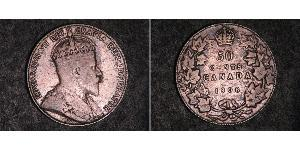 50 Cent Canada Argent Édouard VII (1841-1910)
