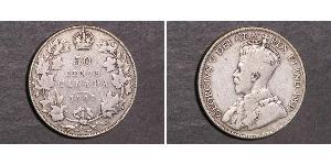 50 Cent Canada Argent George V (1865-1936)