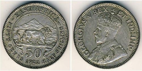 50 Cent Africa orientale Argento Giorgio V (1865-1936)