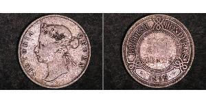 50 Cent British Honduras (1862-1981) Argento Vittoria (1819 - 1901)